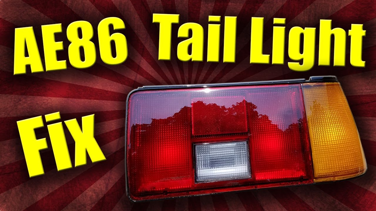 AE86 Project | How To Repair Cracked Tail Lights - Tail Light Restoration