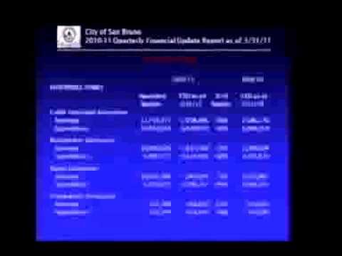 San Bruno City Council Meeting April 26, 2011 10d. Quarterly Financial Report