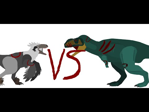 Battle Carnage: dakotaraptor vs rugops