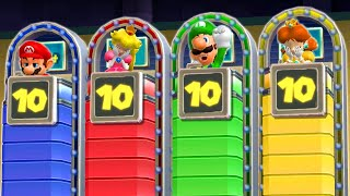 Mario Party 9 - Mario vs Luigi vs Peach vs Daisy - Minigames (Master Difficulty)