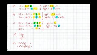 ggt und kgV von Zahlen und Terme