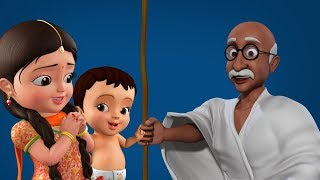 Gandhiji's Three Monkeys - The Golden Principles | Telugu Kids Songs | Infobells