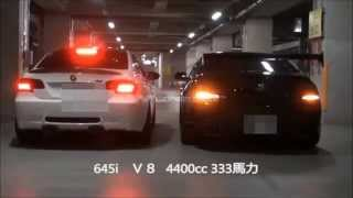 E92 M3 AKRAPOVIC Slip-On &Original  X-pipe (Titanium Exhaust Sound) Full Accelation