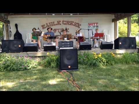 The Cricket Creek Players perform Aragon Mill at the Eagle Creek Folk Festival