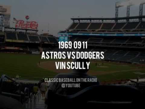 1969 09 11 Astros vs Dodgers Vin Scully Radio Broadcast   Some missing Audio