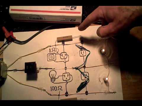 power surge due to an open neutral wire. - youtube, House wiring