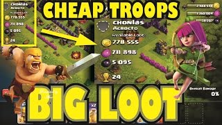 Farming Attack Strategy Clash Of Clans Town Hall 10 Loot With Low Cost