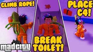 EVERY PRISON ESCAPE IN MAD CITY! *LOCKPICK, C4, ROPE + MORE* (Roblox)