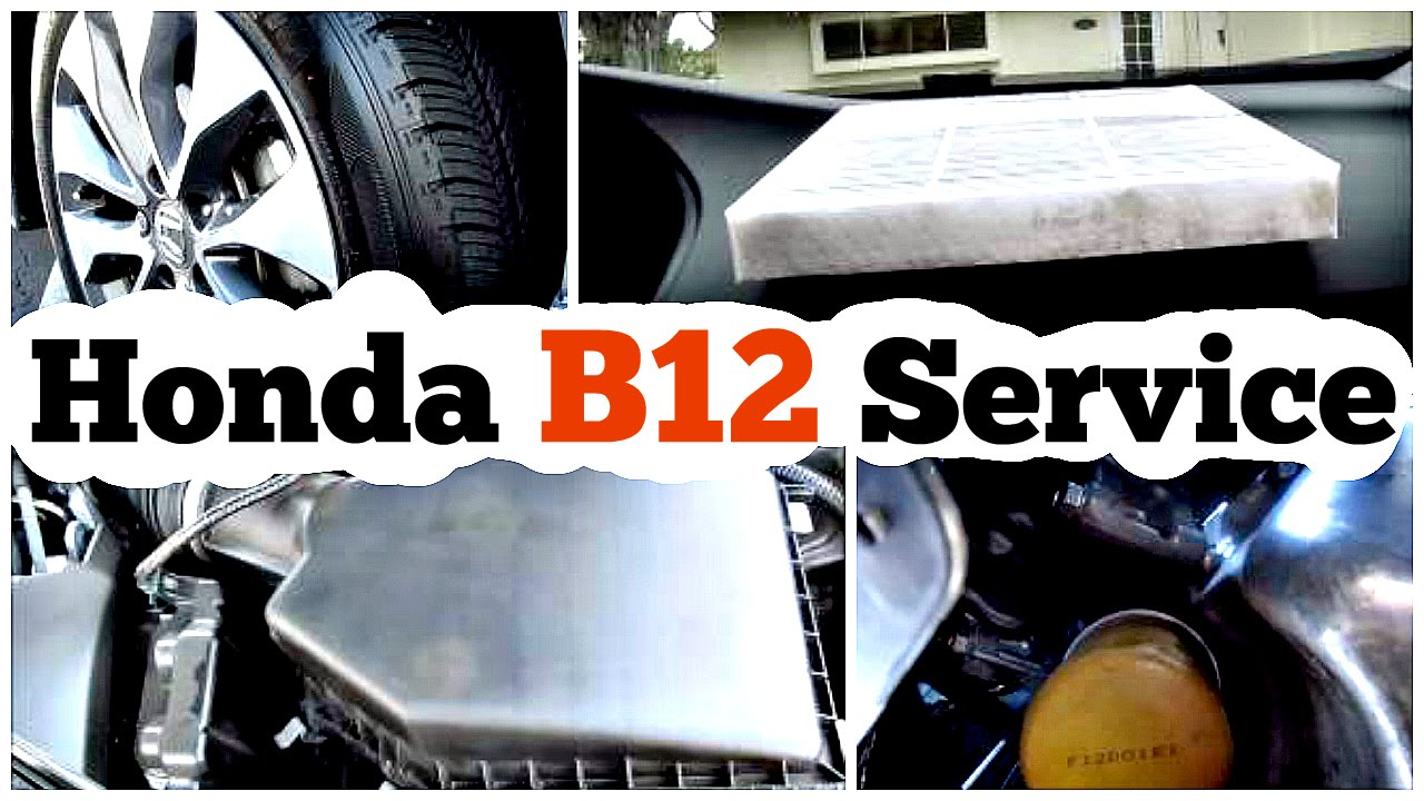 diy honda maintenance minder code b12 service procedure
