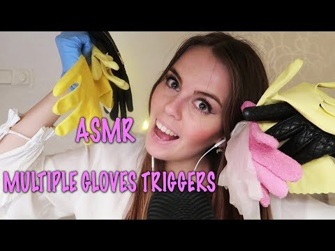 ASMR Multiple Gloves Triggers (latex, leather, surgical, rubber etc)