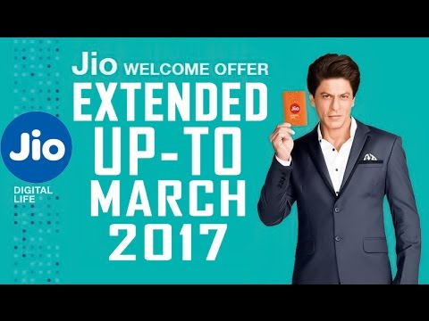 Unlimited 4G Up-To March 2017    Reliance Jio Welcome offer Extension