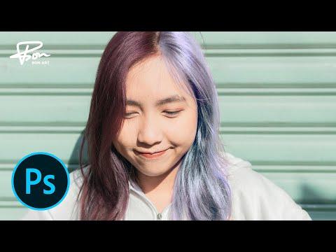 Chỉnh màu tóc trong photoshop | chỉnh màu tóc bạch kim | BonART