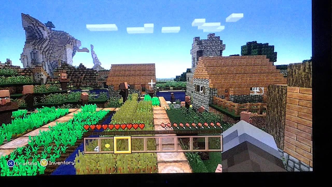как найти деревню в майнкрафте на playstation