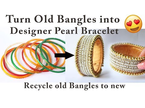 Best out of waste recycle old bangles to Designer Bracelet