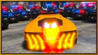 GTA 5 Roleplay - JET ENGINE LAMBORGHINI DESTROYING COPS | RedlineRP