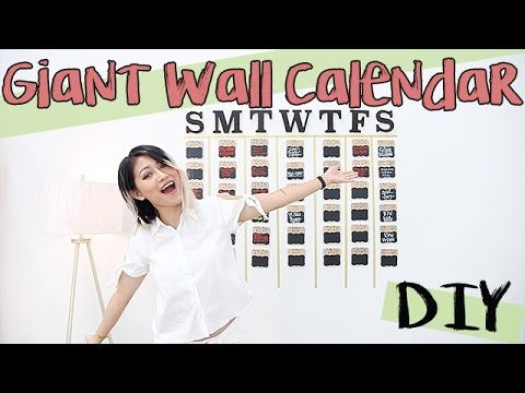 DIY Giant Wall Calendar/To-Do List (Dorms, School, Office, Apartments)