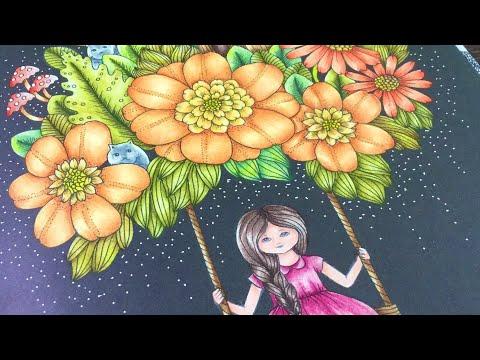 VIVI SÖKER EN VÄN by Maria Trolle - prismacolor pencils- color along