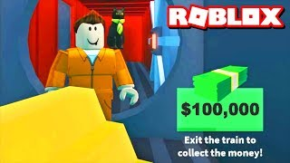 GETTING MAX CASH ON THE TRAIN HEIST!! | Roblox Jailbreak Update