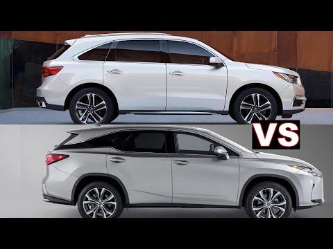 2019 Acura MDX vs 2019 Lexus RX 350L – Third Row Seat Comparison.