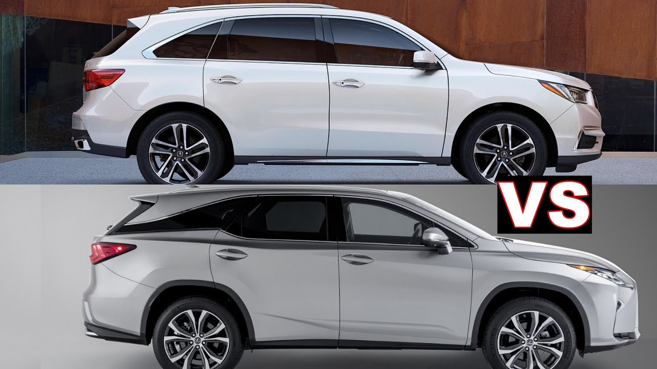 2019 Acura Mdx Vs Lexus Rx 350l Third Row Seat Comparison