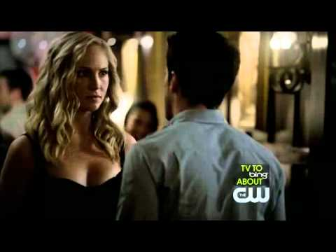 "The Vampire Diaries: Caroline and Tyler Kiss 3x01 ""The Birthday"""