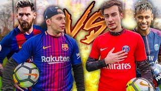 MESSI VS NEYMAR | BARCA VS PSG FUßBALL CHALLENGE!!