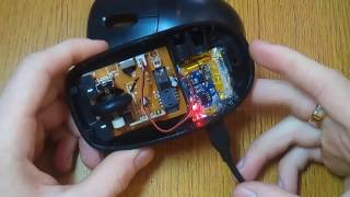 Переделка радио мышки под Li-Ion.