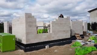 Строительство дома в Риге. Стены и бетонное перекрытие.(, 2017-09-18T05:13:09.000Z)