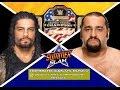 WWE Summerslam 2016 Rusev vs Roman Reigns WWE United States Championship Match PREDICTION