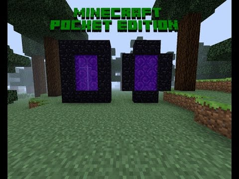 Как сделать портал в АД в Minecraft PE 0.12.1 : 0.12.2:0.12.3 : 0.13.0