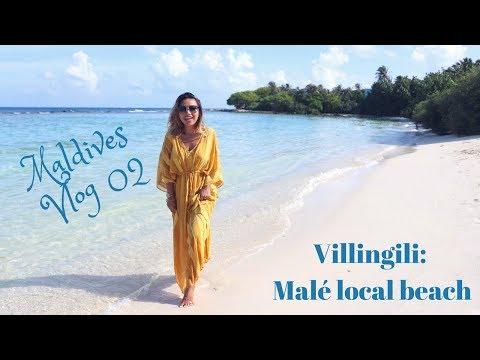Maldives Vlog 02: Villingili, Malé local beach