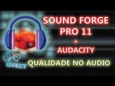 COMBINAÇÃO SOUND FORGE PRO 11 E AUDACITY REDUÇÃO DE RUIDOS