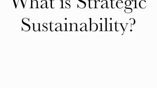 What is Strategic Sustainability?