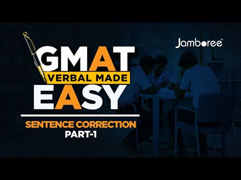 Gmat Verbal Made Easy  Sentence Correction Part 1  Youtube