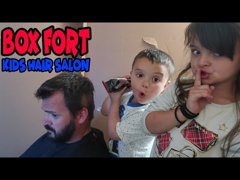 BOX FORT KIDS HAIR SALON!!!