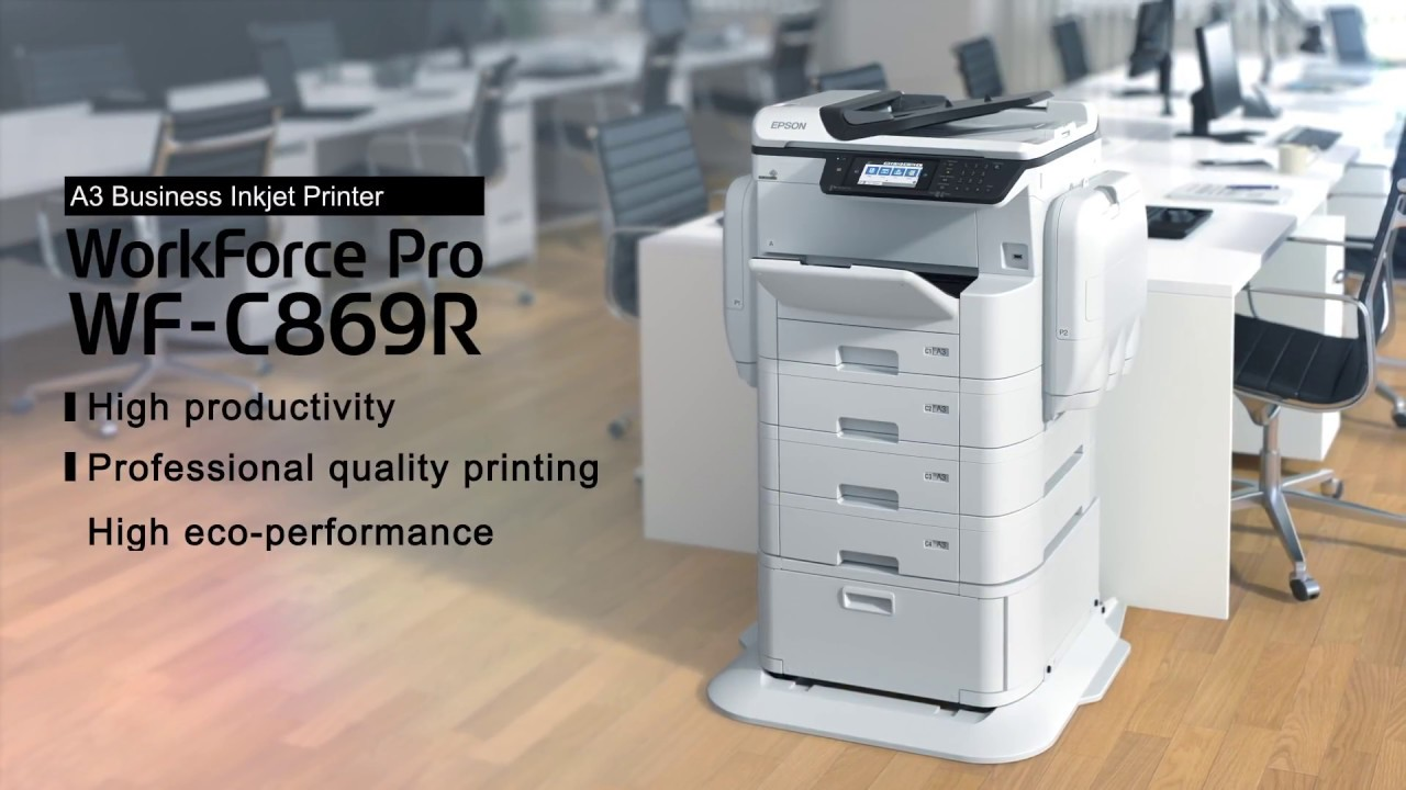 Epson WorkForce Pro WF-C869R Replaceable Ink Pack System