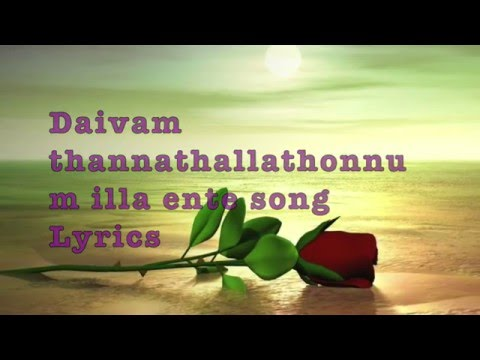 Malayalam New Song Daivam thannathallathonnum illa ente song with Lyrics