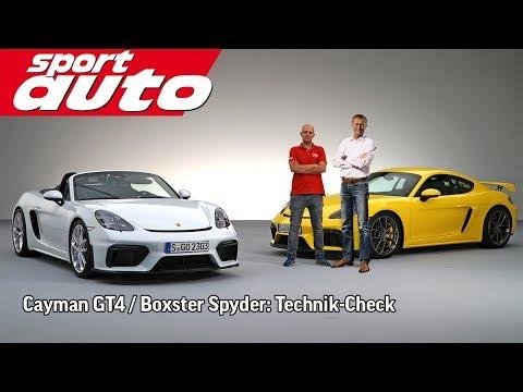 Preuninger erklärt Porsche Cayman GT4 / Boxster Spyder | sport auto