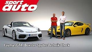 Preuninger erklärt Porsche Cayman GT4 / Boxster Spyder   sport auto