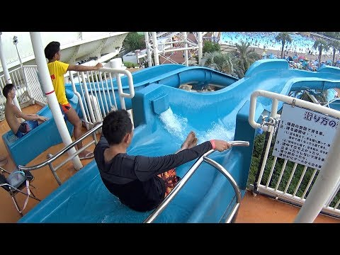 Strange Blue Water Slide at Yomiuri Land