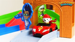 Best Learning for Kids Learn Colors PJ Masks Rival Race Track Toy Cars & Paw Patrol!