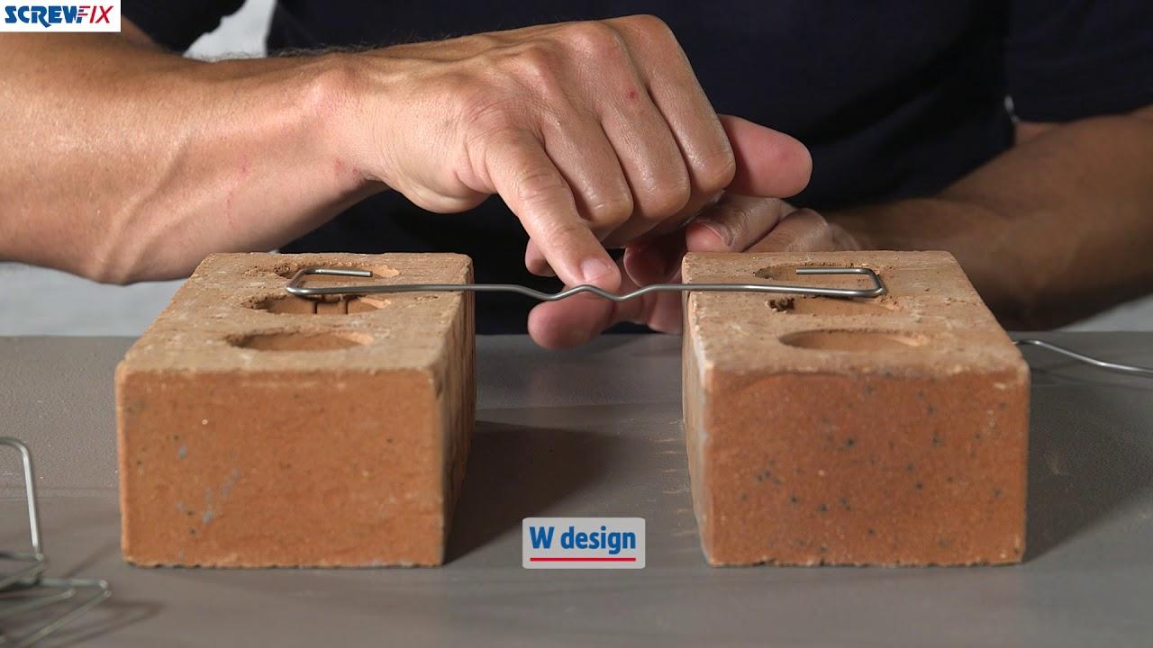 72a92f268f31 Sabrefix Wall Ties 200mm for 50-75mm Cavity | Screwfix - YouTube