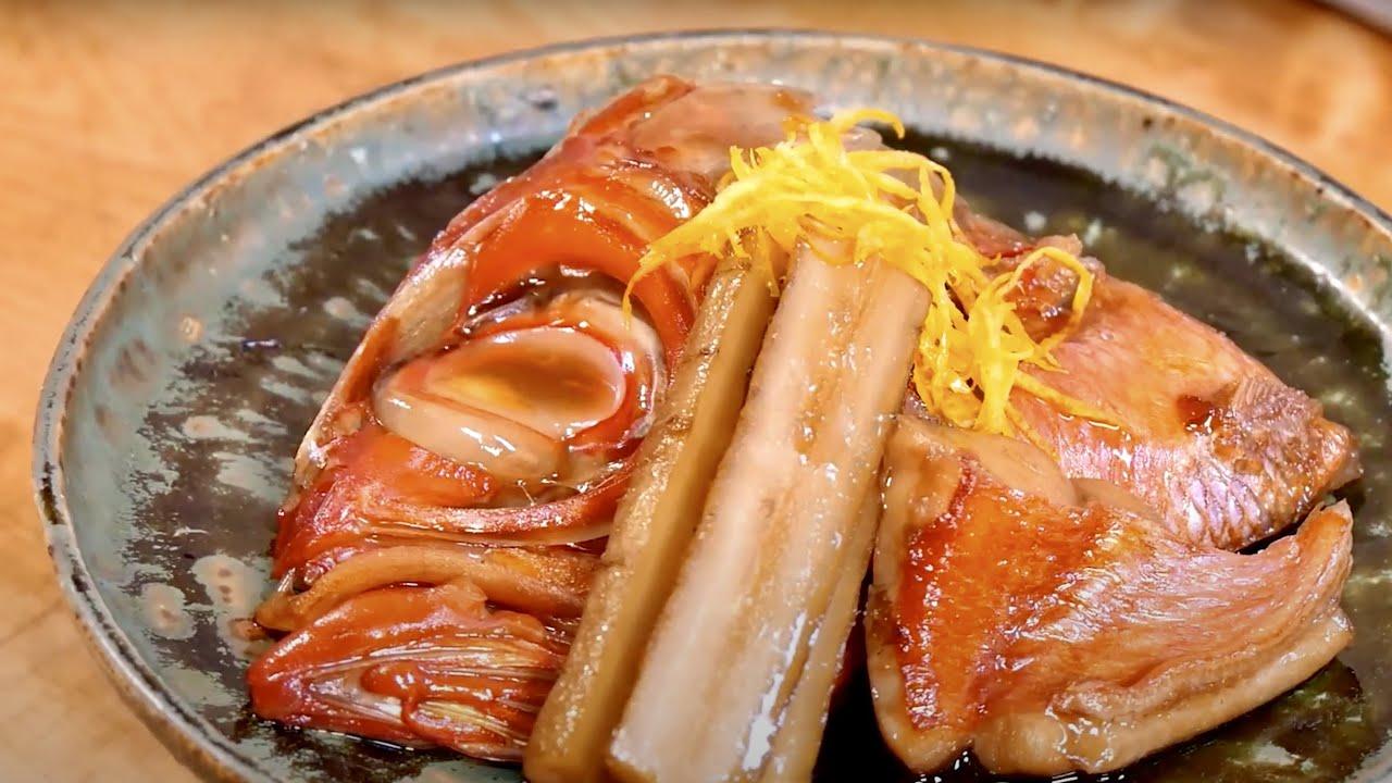 【プロ直伝】金目鯛の煮付け・刺身の作り方【兜割りのコツ】