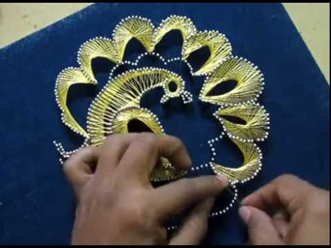 STRING ART Peacock DIY :thread art for beginners