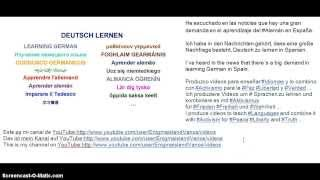 Aleman Deutsch German Aprender Lernen Learn Idiomas Sprachen Languages Portuguese España