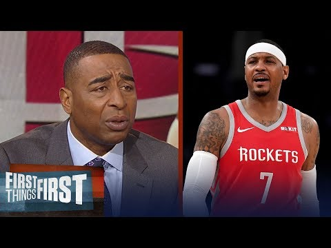 Cris Carter says Carmelo Anthony can only blame himself for his career | NBA | FIRST THINGS FIRST