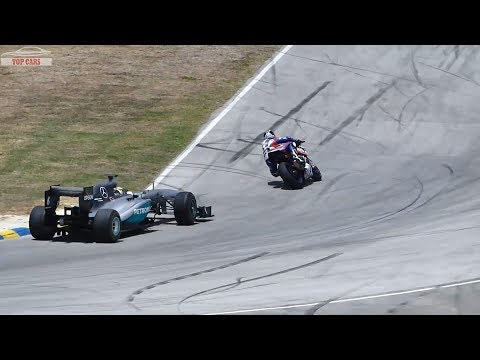 Supercar Vs Superbike DRAG RACE -  F1 CAR Vs YAMAHA R1M