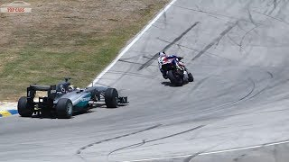 Supercar vs Superbike DRAG RACE -  F1 CAR vs YAMAHA R1M
