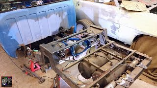 4 Link Air Ride Suspension Kit Gets Fitted & Welded on a 8.8 Diff | Turbo 5.3 LS Swap S10 Build