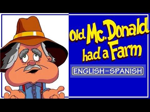 Learning Spanish: OLD MCDONALD HAD A FARM  with Lyrics